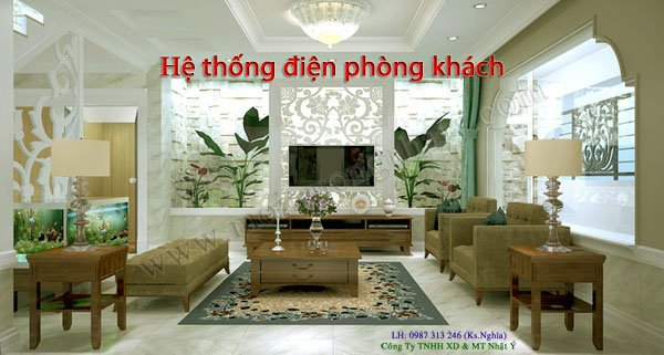 He thong dien chieu sang phong khach