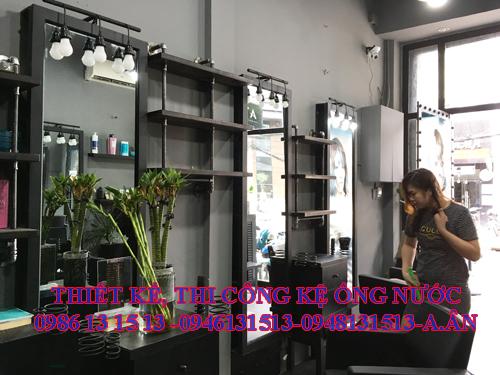 Kệ trưng bày sàn phẩm hair salon
