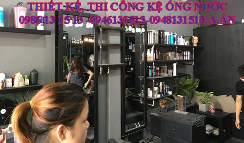 Kệ trưng bày sàn phẩm tiệm tóc