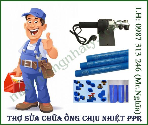 Thợ sửa chữa ống chiệu nhiệt PPR