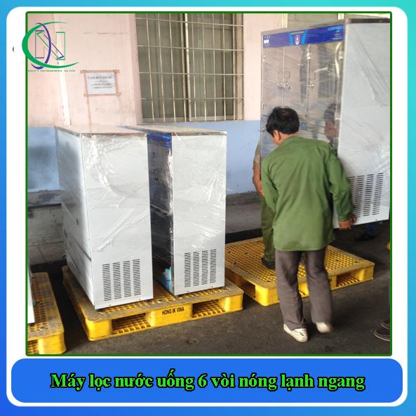 máy lọc nước uống nóng lạnh 6 vòi ngang