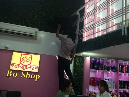 Lắp đặt điện chiếu sáng cửa hàng trang trí và shop thời trang