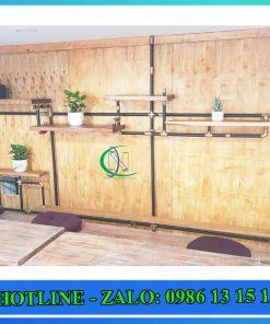 kệ trang trí ống nước giá rẻ 3